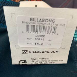 Billabong Swim - NWT Billabong Sunday's Layback Boardshorts